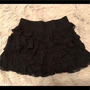 Black lace ruffle skirt (Express Brand)